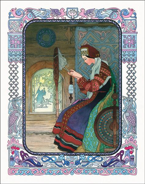 Illustration for The Tale of the Dead Princess and the Seven Knights, c.1996 - Vyacheslav Nazaruk