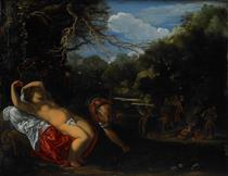 Apollo  and  Coronis - Adam Elsheimer