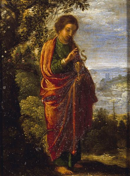 Saint John the Evangelist, 1605 - Adam Elsheimer