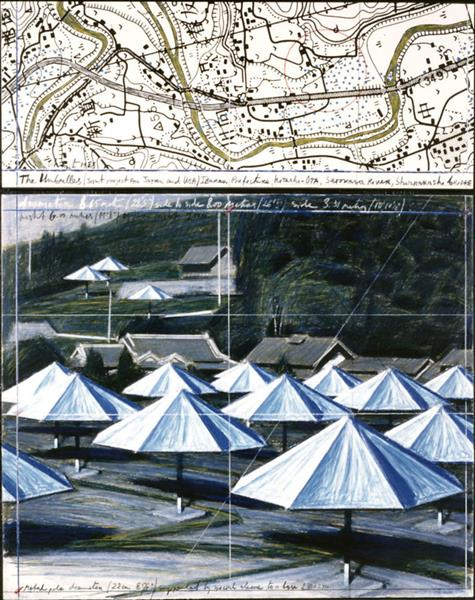 The Umbrellas. Joint Project for Japan and USA (Ibaraki and California), 1984 - 1991 - Christo and Jeanne-Claude