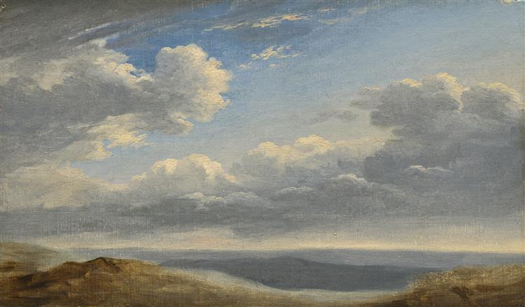 Study of Clouds over the Roman Campagna, 1782 - Pierre-Henri de Valenciennes