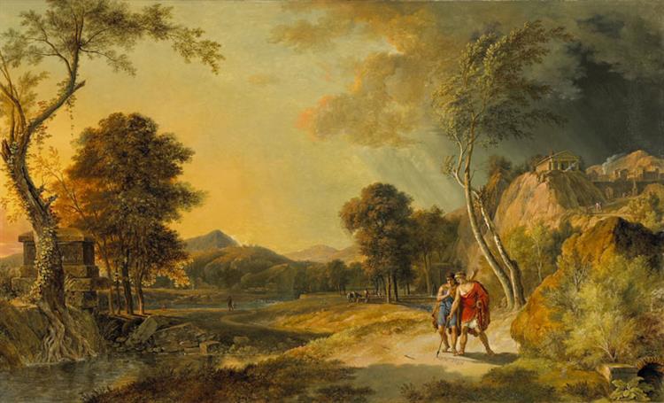 Paysage Historique Avec Démetrius Et Mithridate, 1819 - Pierre-Henri de Valenciennes