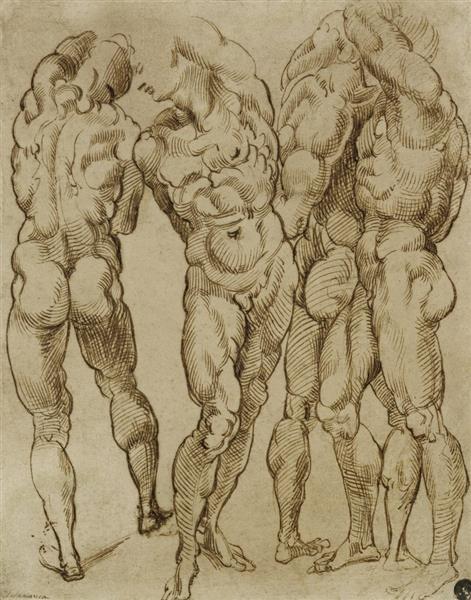 Nude Studies, c.1570 - c.1580 - Бартоломео Пассаротти