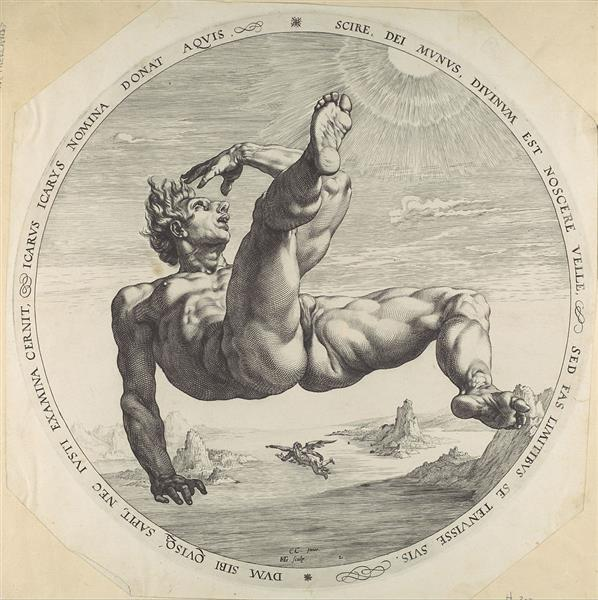 Icarus - Hendrick Goltzius