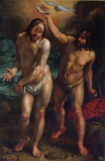 The Baptism of Christ - Hendrick Goltzius