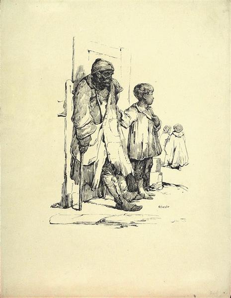 Vieux Mendiant - Charlet