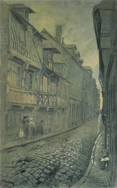 Honfleur, La Rue Gambetta - Fernand Combes
