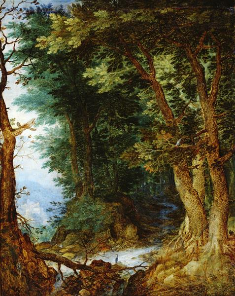Forest landscape - Jan Brueghel the Elder