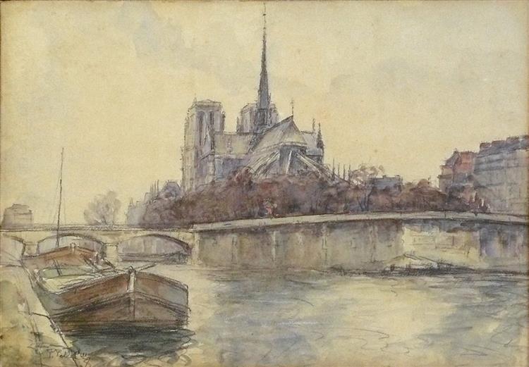 Vue de Notre-Dame de Paris depuis les Quais - Pierre-Jacques Pelletier