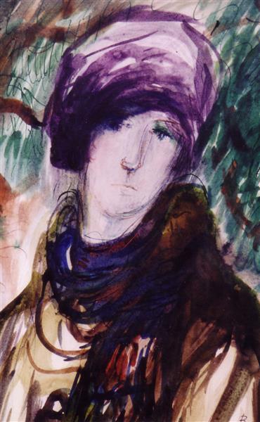 French Portrait, c.1991 - Maria Bozoky