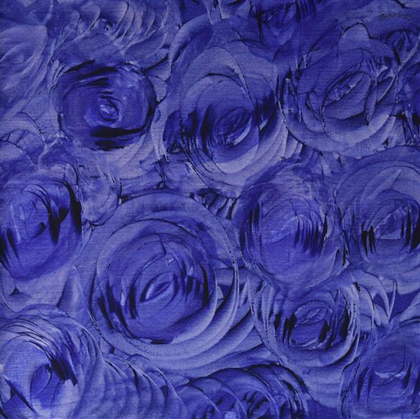 Deep in Love Blue II ,32x32,inches PRATAP SINGH 2017 - PRATAP SINGH