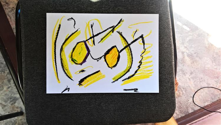 Yellow Sunglasses., 2017 - Maxim Keyfman