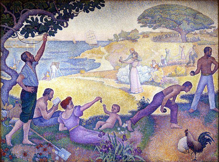 Au temps d'harmonie (L'âge d'or n'est pas dans le passé, il est dans l'avenir), 1893 - 1895 - Paul Signac