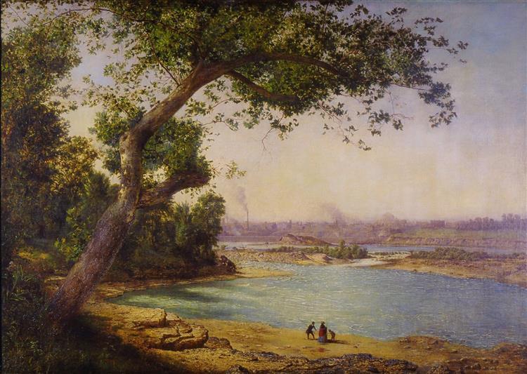 Falls of the Ohio, Louisville, 1863 - Alexander Helwig Wyant
