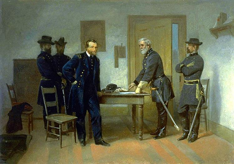 Lee Surrendering to Grant at Appomattox, 1870 - Alonzo Chappel