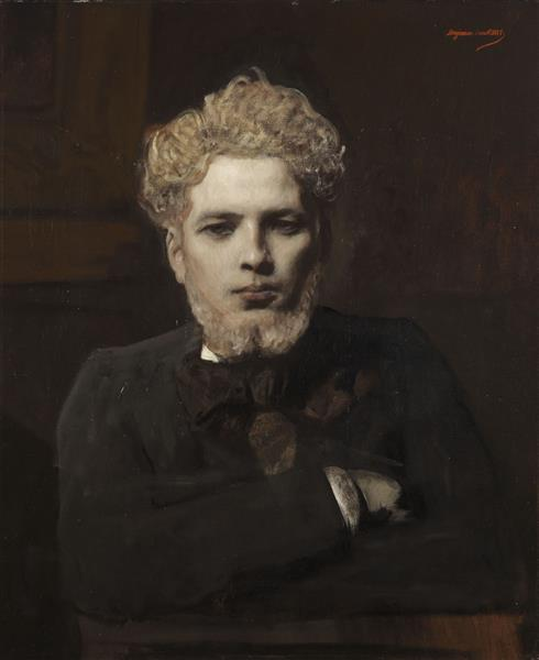 Portrait De Jeune Homme Barbu Dit L'albinos - Benjamin Constant