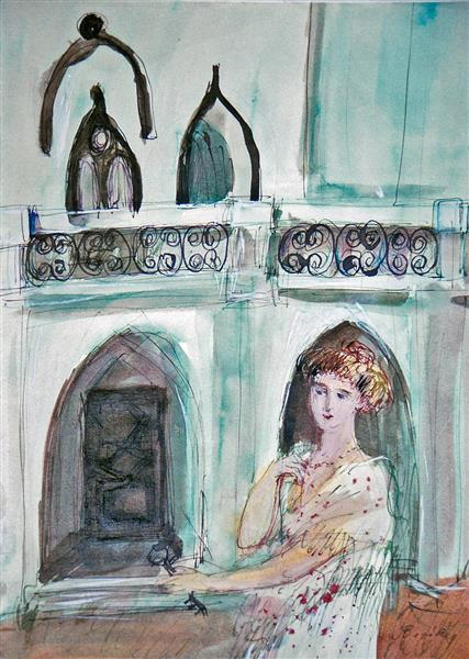 English Castle with Owner, 1994 - Maria Bozoky