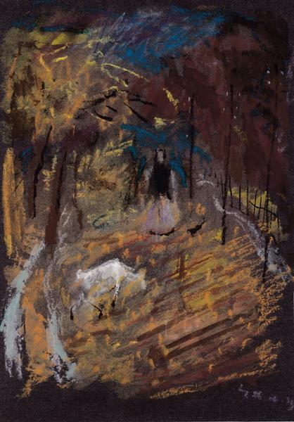 Girl and Goat, 1984 - Rudolf LÁNG