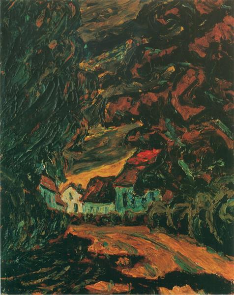 Landscape near Carlsbourg (Belgium) B2, 1914 - 1915 - Walter Gramatté