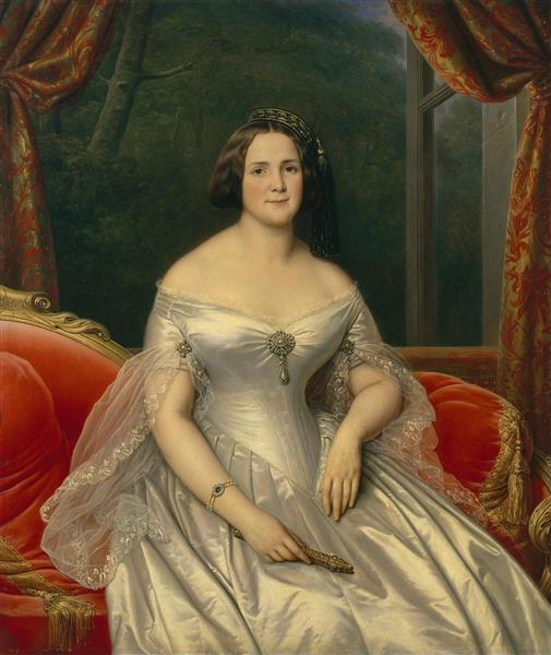 Portrait of Anna Benardaki, 1844 - Charles de Steuben