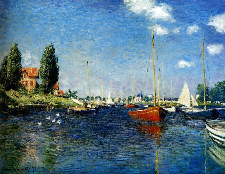 Argenteuil (Red Boats), 1875 - Claude Monet
