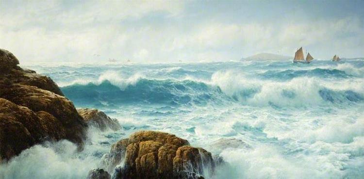 A Breezy Day, Cornwall, 1890 - David James