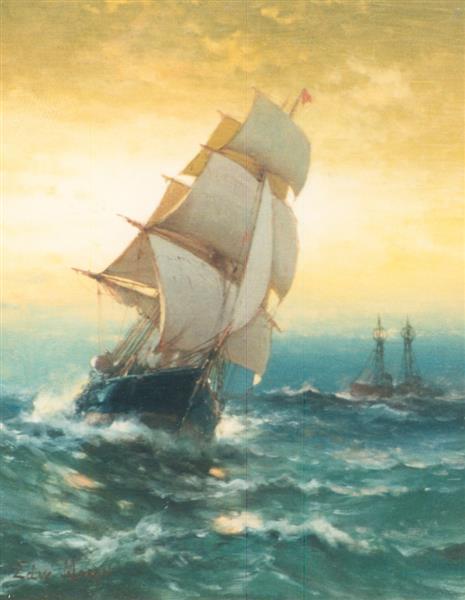 Brig off Sandy Hook, 1869 - Edward Moran