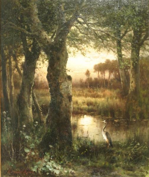 Estuary at Twilight, 1890 - Edward Moran