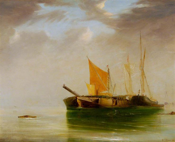 Morning Mist on the Orwell, 1867 - Frederick George Cotman