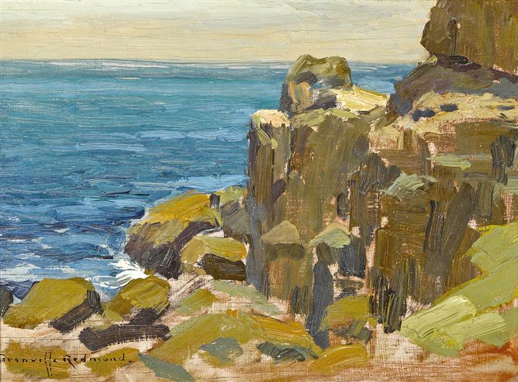 Rocky Cliffs, Catalina Island - Granville Redmond