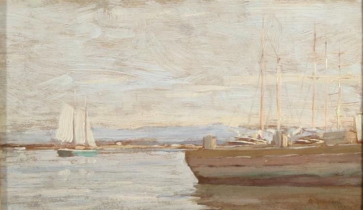 San Pedro Harbor, 1901 - Granville Redmond