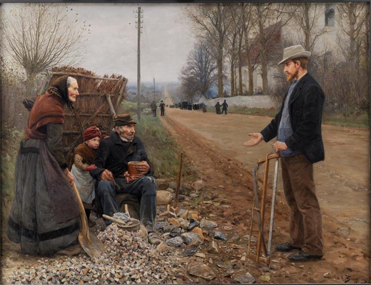 People by a Road, 1893 - Hans Andersen Brendekilde