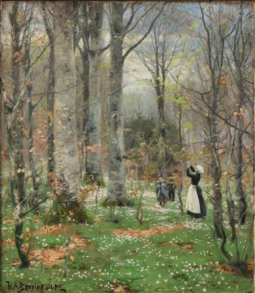 Forårsbøgeskov, 1900 - Hans Andersen Brendekilde