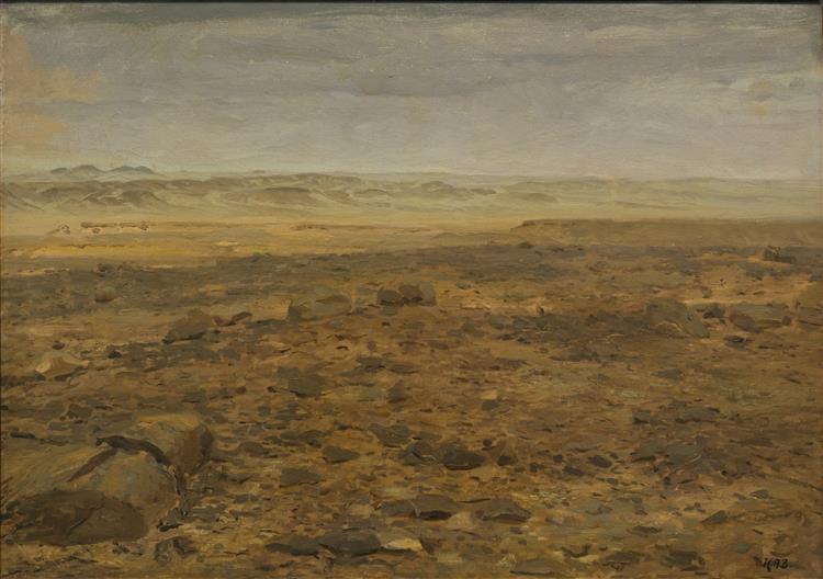 Landscape from the Arab Desert, 1889 - Hans Andersen Brendekilde