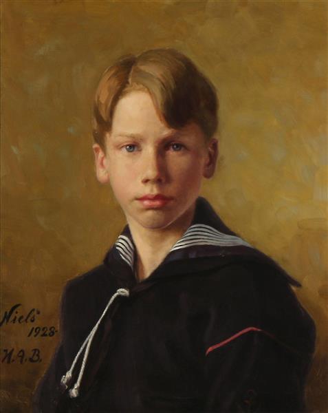 Portrait of the Artist's Nephew Nils - Hans Andersen Brendekilde
