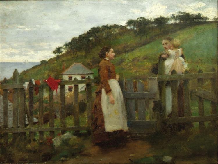 A Morning Gossip, 1885 - Henry Scott Tuke