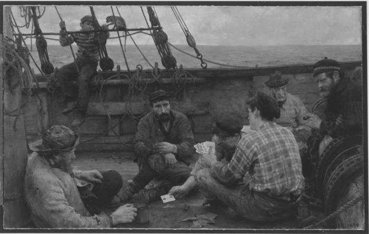 Matrosen beim Kartenspiel, 1890 - Henry Scott Tuke