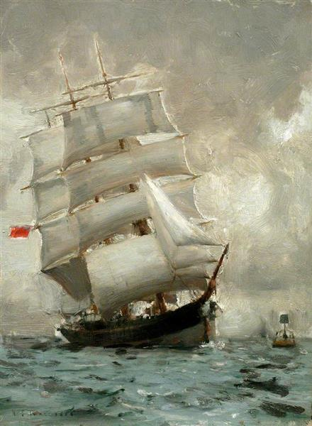 Rounding the Manacle Buoy, 1888 - Henry Scott Tuke