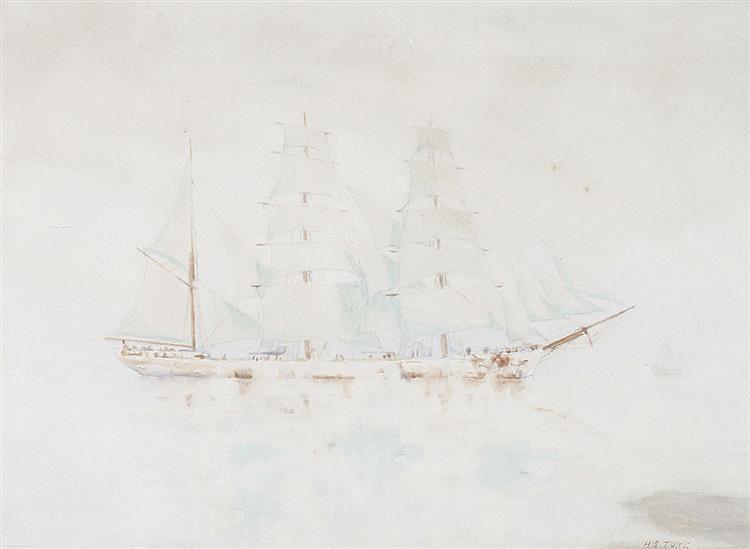 Sailing ship - Henry Scott Tuke