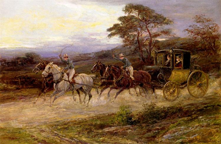 On the Road to Gretna Green - Heywood Hardy