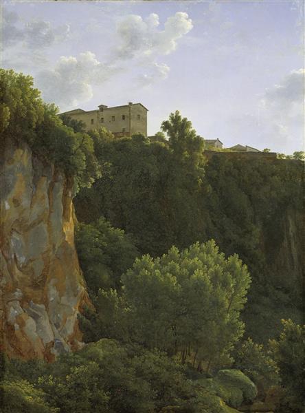 Klippa Vid Cività Castellana - Jean-Joseph-Xavier Bidauld
