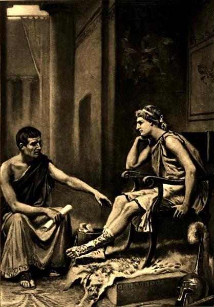 Aristotle tutoring Alexander, 1895 - Jean Leon Gerome Ferris