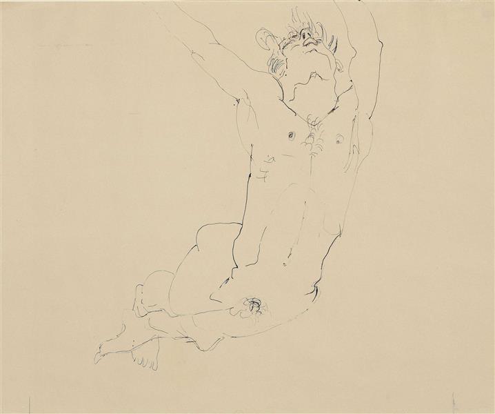 Male nude, 1930 - 1940 - Mark Tobey