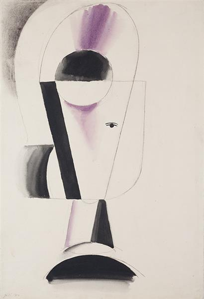 Study of a head, 1914 - Josef Capek