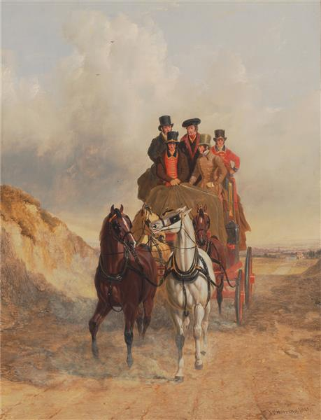 The Royal Mail Coach on the Road, 1841 - John Frederick Herring Sr.