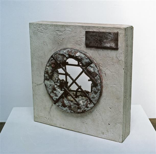 'Possible'  by Carlos Granger -  abstract sculpture in concrete & steel, 1996 - Carlos Granger