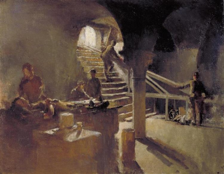 An Underground Casualty Clearing Station, Arras, 1918 - Henry Tonks