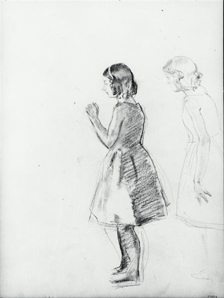 Two Studies of a Girl - Henry Tonks