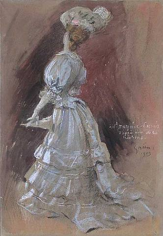 An Elegant Lady with a Parasol, 1905 - Jules-Alexandre Grun