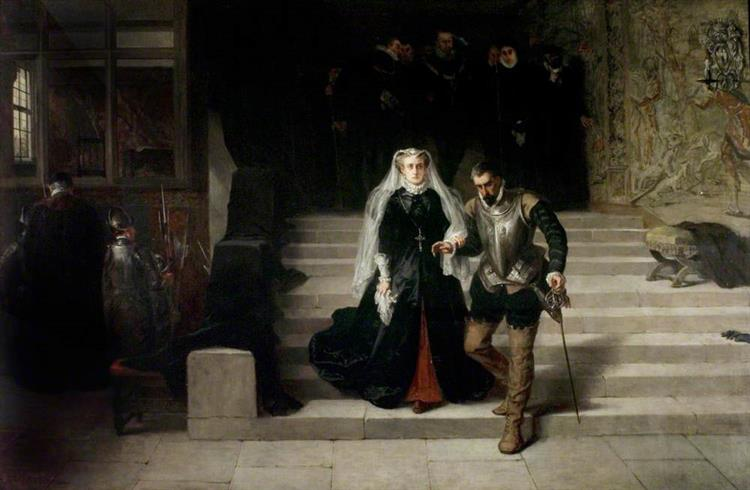 Mary, Queen of Scots, Being Led to Her Execution, 1871 - Laslett John Pott